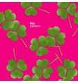 clover bio pattern vector image vector image