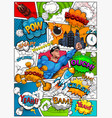comic book page divided lines vector image vector image