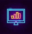 computer statistics neon sign vector image vector image