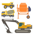 construction delivery truck transportation vector image vector image