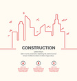 Construction houses background vector image vector image