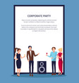 corporate party disco on white vector image vector image