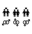 couple homosexual vector image vector image