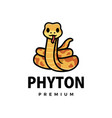 cute phyton cartoon logo icon vector image