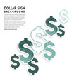 dollar signs design american currency signs vector image vector image
