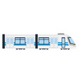electric intercity train flat isolated vector image vector image