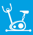 exercise bike icon white vector image vector image