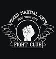 fight club logo new york mma vector image vector image