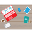 Flat workspace vector image vector image