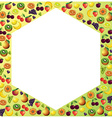 Fruits frame made with different fruits healthy vector image
