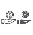 funding line and glyph icon finance and banking vector image vector image