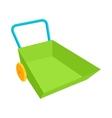 Green wheelbarrow icon in cartoon style vector image vector image