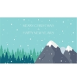 happy new year and merry Christmas winter scenery vector image