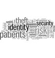 how to inform patients about identity theft vector image vector image