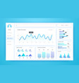 infographic dashboard ui kit with diagrams pie vector image vector image