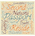 Is A Second Passport A Second Chance text vector image vector image