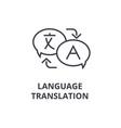 language translation line icon outline sign vector image