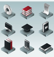 library color gradient isometric icons vector image vector image