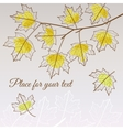Linden leaf yellow style with place for your text vector image vector image