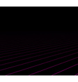 Lines perspective dark background vector image