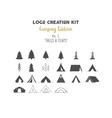 Logo creation kit bundle Camping Edition set
