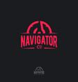 logo navigator compass sport sailing climbing vector image