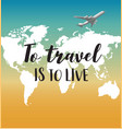 love travel concept in vector image