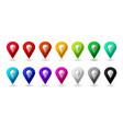 map location pointer 3d arrow color navigation vector image vector image