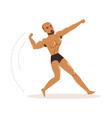 mixed martial artist in fighting action vector image vector image