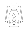 outline lamp kerosene old lantern camping vector image