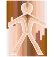 paper cutout man vector image vector image