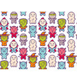 pattern with children in costumes for halloween vector image