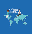 people social media vector image