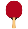Ping pong paddle vector image vector image