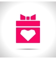 present with heart icon Eps10 vector image