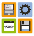 program coding set icons web design vector image vector image