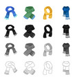 scarf accessories clothing and other web icon vector image vector image