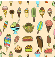 Seamless ice cream vector image vector image