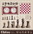 set chess design elements vector image