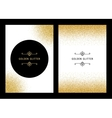 set gold glitter card and background