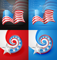 set of american flag design vector image