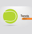 silhouette of a tennis ball from particles vector image vector image