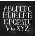 simple hand drawn letters vector image vector image