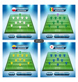 soccer team player plan group h with flags vector image vector image