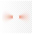 sonar wave sign radar icon vector image vector image