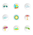 Stay in Miami icons set cartoon style vector image vector image