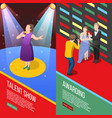 talent show isometric banners vector image vector image