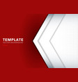 template white arrow overlapping with shadow on vector image vector image