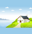 the lake house vector image vector image
