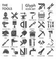 tools glyph icon set repair symbols collection vector image